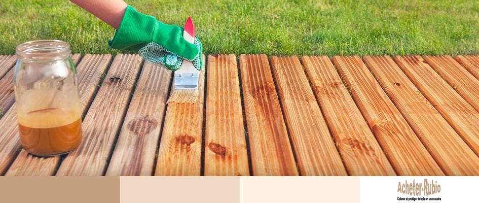 Finition d'une terrasse en bois