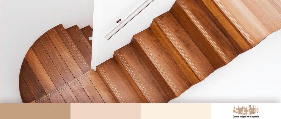 Huile bois escalier